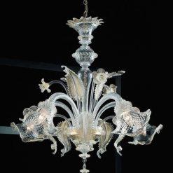 lampadario murano darwin cristallo oro