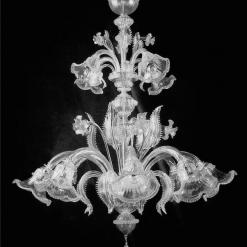 lampadario murano eraclito cristallo