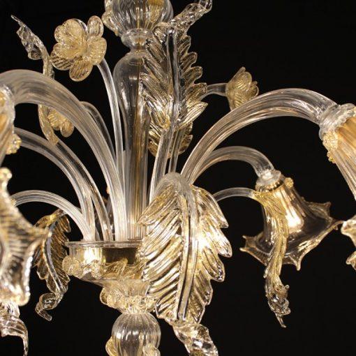 galileo lampadari murano cristallo oro dettaglio 4