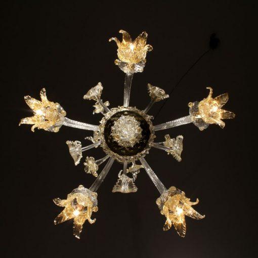picasso lampadari murano cristallo oro dettaglio