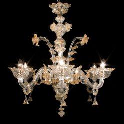 archimede-lampadari-murano-cristallo-ambra