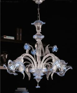 Giulio Cesare lampadari murano celeste