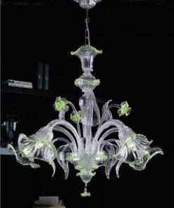 Giulio Cesare lampadari murano verde