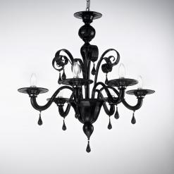 Cavour lampadario Murano moderno nero