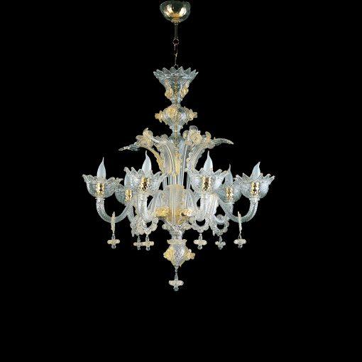 cleopatra lampadari murano cristallo oro