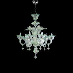 cleopatra lampadari murano cristallo verde