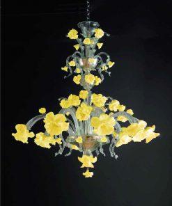 lampadario murano augusto giallo