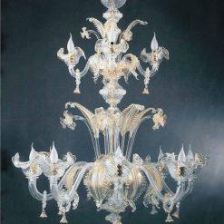 lampadario murano epicuro cristallo oro