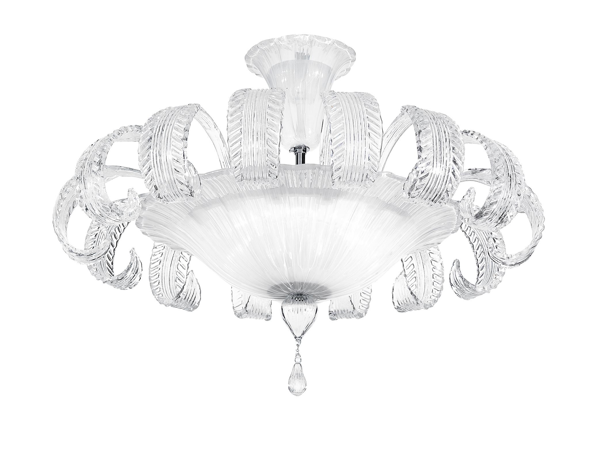Plafoniera Fiori Murano : Plafoniera classica cromo vetro murano cristallo swarovsky