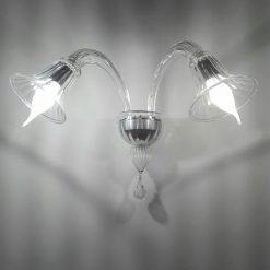 Omero Applique murano 2 luci