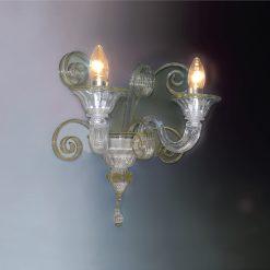 Brema applique murano cristallo oro