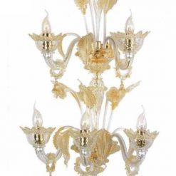 applique murano cleopatra cristallo ambra