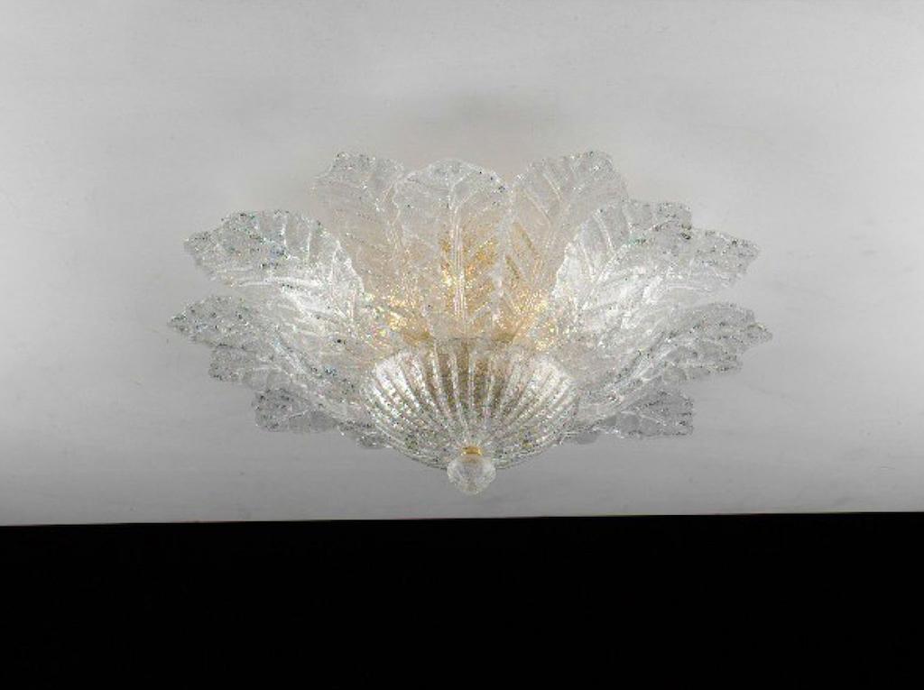 Plafoniera Fiori Murano : Plafoniera vetro murano