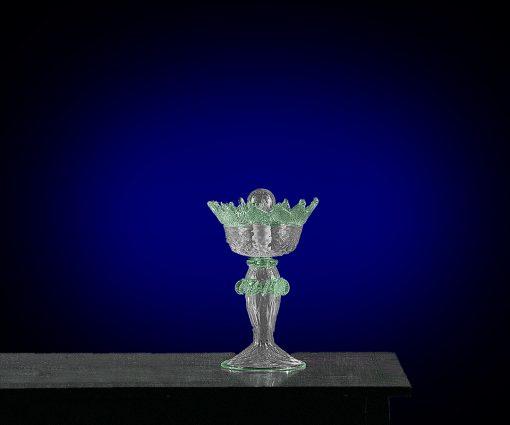 cleopatra abat-jour murano cristallo verde