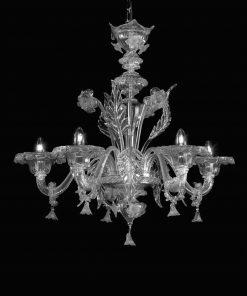 Amleto-lampadario-Murano cristallo