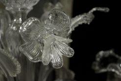 Nelson lampadario murano particolare fiore cristallo