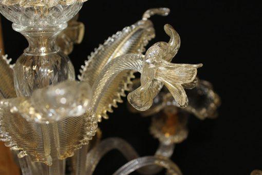 Nelson lampadario murano particolare fiore e foglia