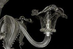 Nelson lmapadario murano partiocolare braccio cristallo