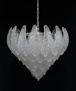 Costa rica lampadario murano vintage cromo