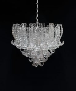 Oxford lampadario murano vintage cromo