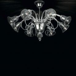 Vancouver plafoniera Murano cristallo