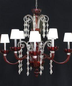 chicago lampadario murano con paralumi