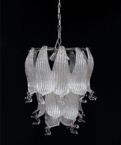 oregon lampadario murano vintage cromo