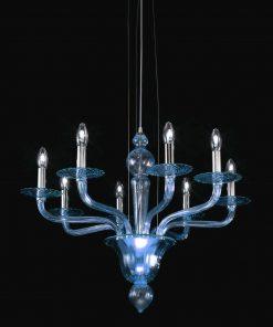 Leonard lampadario Murano moderno blu