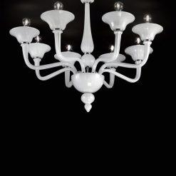 Pitagora plafoniera Murano moderna bianca