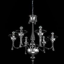 Platone lampadario Murano moderno cristallo