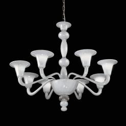 Zelda lampadario Murano moderno bianco