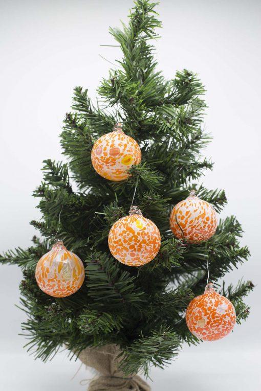 Pallina di Natale arancio 60