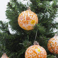 Pallina di Natale arancio 60 particolare