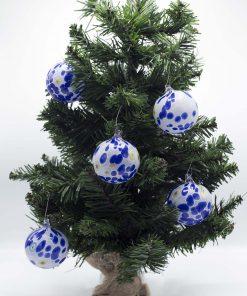 Pallina di Natale blu 60