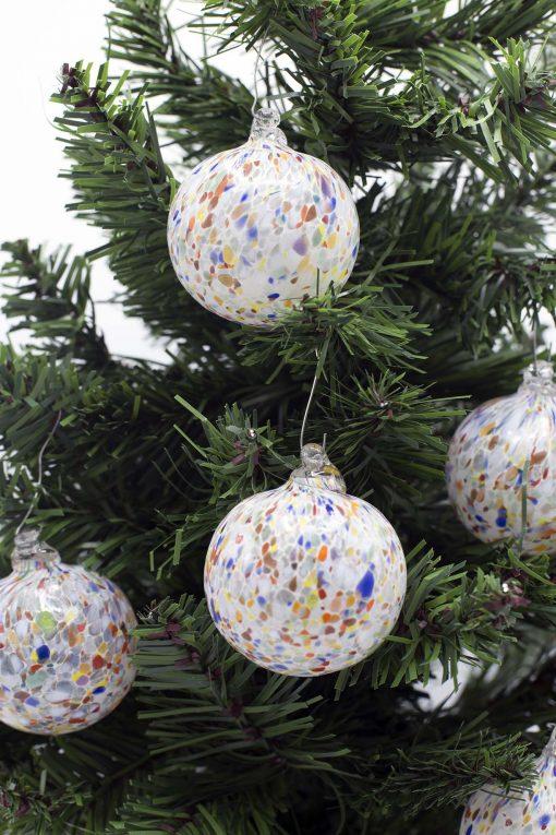 Pallina di Natale con murrine 60 particolare