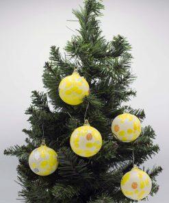 Pallina di Natale gialla 60