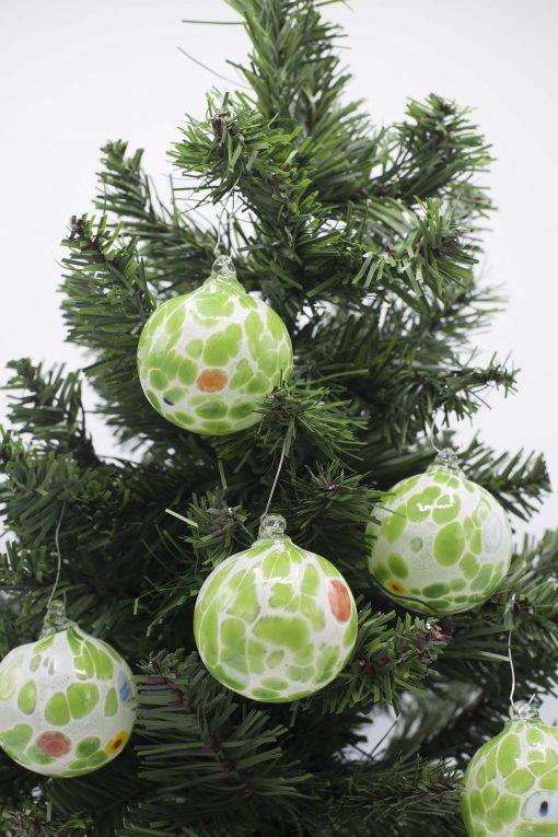 Pallina di Natale verde particolare