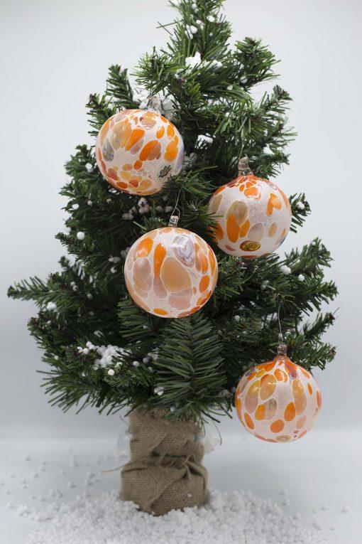 pallina di natale arancio diametro 80