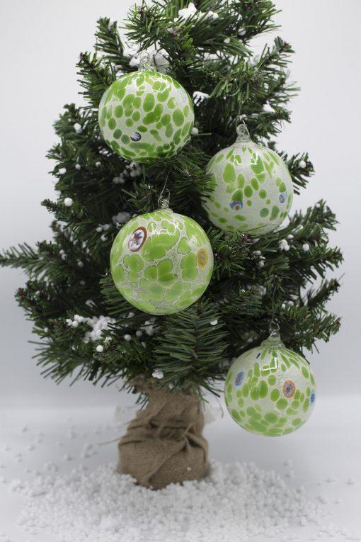 pallina di natale verde diametro 80
