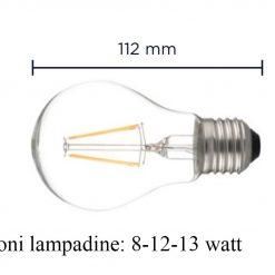 Lampadina led bulb E27 Glass