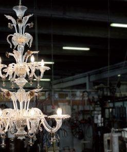 Margaret lampadario murano 12 luci