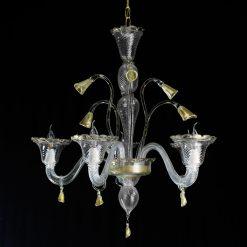 Miss lampadario Murano cristallo oro