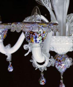 Murrino lampadario Murano particolare