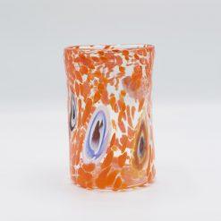 Nettuno Goto cristallo arancio nero Murano