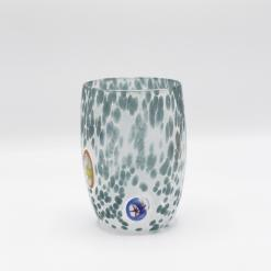 Oceano bicchiere bianco acquamare Murano