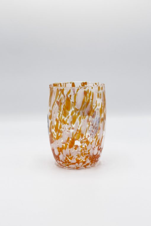 Oceano bicchiere bianco arancio