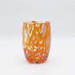 Oceano bicchiere arancio Murano