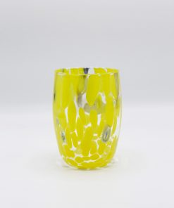 Oceano bicchiere giallo Murano