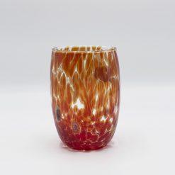 Oceano bicchiere rosso Murano