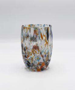 Oceano bicchiere multicolor Murano